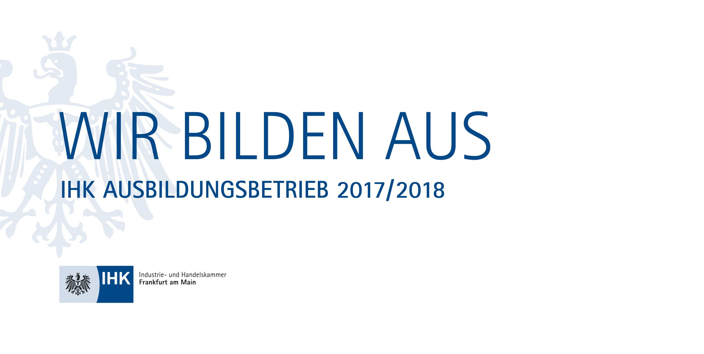 IHK Ausbildungsbetrieb 2017/2018